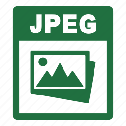 document, extension, file, format, jpeg, jpeg file icon