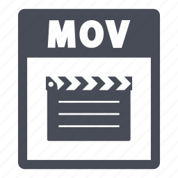 document, extension, file, mov, mov file icon