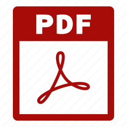 document, extension, file, format, pdf, pdf file icon