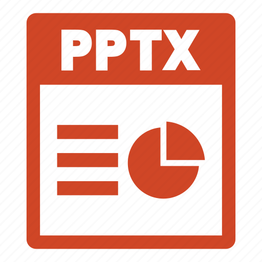 document, extension, file, format, pptx, pptx file icon