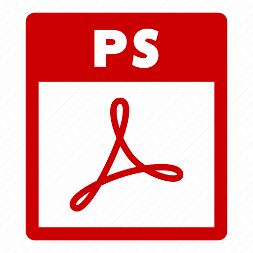 document, extension, file, format, ps, ps file icon