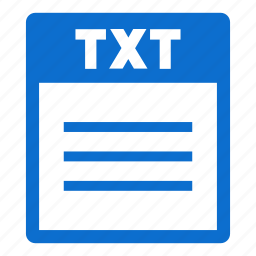 document, extension, file, format, txt, txt file icon