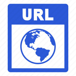 document, extension, file, format, url, url file icon