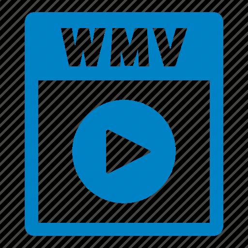 document, extension, file, format, wmv, wmv file icon