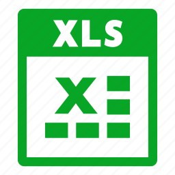 document, extension, file, format, xls, xls file icon