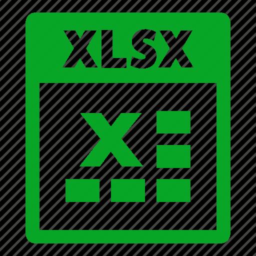 document, extension, file, format, xlsx, xlsx file icon