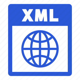 document, extension, file, format, xml, xml file icon