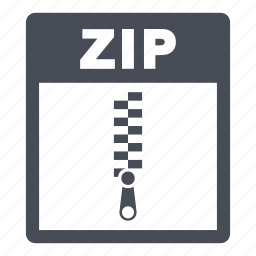 document, extension, file, format, zip, zip file icon