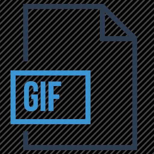 file, gif, gif file, image format, image type icon