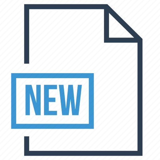 file, new, new file, new file type, new format icon
