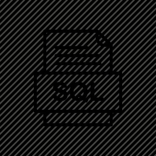 Sql, file, format icon - Download on Iconfinder