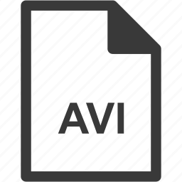 avi, extension, file format, file type icon