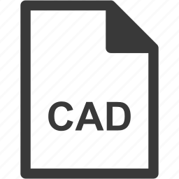cad, extension, file format, file type icon