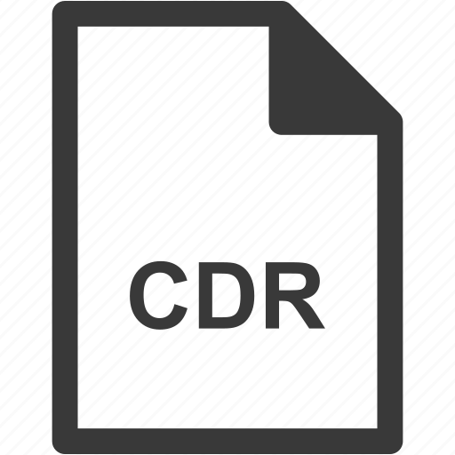 cdr, extension, file format, file type icon