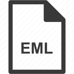eml, extension, file format, file type icon
