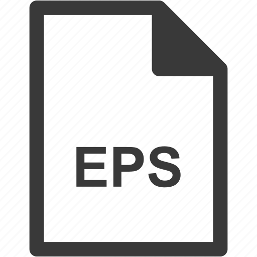 eps, extension, file format, file type icon