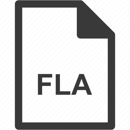 extension, file format, file type, fla icon
