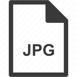 extension, file format, file type, jpg icon
