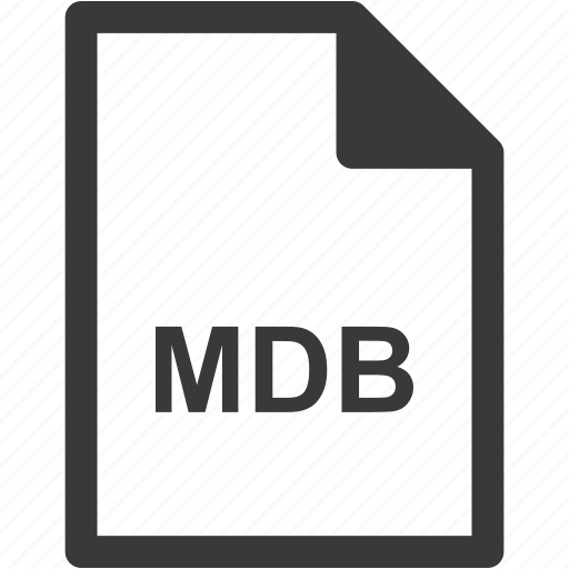 extension, file format, file type, mdb icon