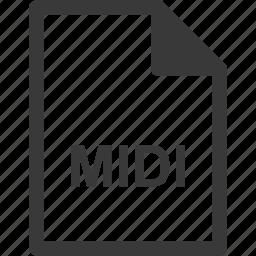 extension, file format, file type, midi icon