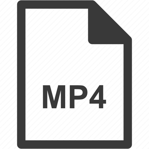 extension, file format, file type, mp4 icon