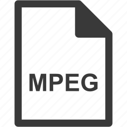 extension, file format, file type, mpeg icon