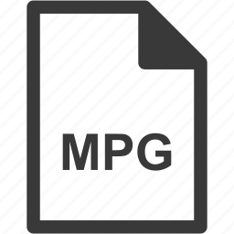 extension, file format, file type, mpg icon