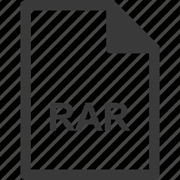 extension, file format, file type, rar icon