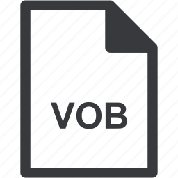 extension, file format, file type, vob icon
