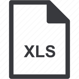 extension, file format, file type, xls icon