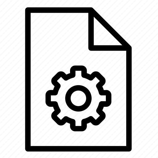 cogwheel, document, file, format, gear, options, wheel icon