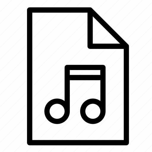 audio, document, file, format, mp3, music, sound icon