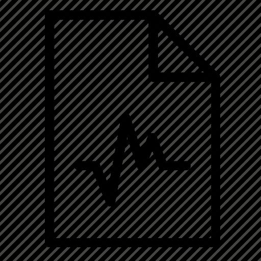 audio, document, file, music, sound, wav, wave icon