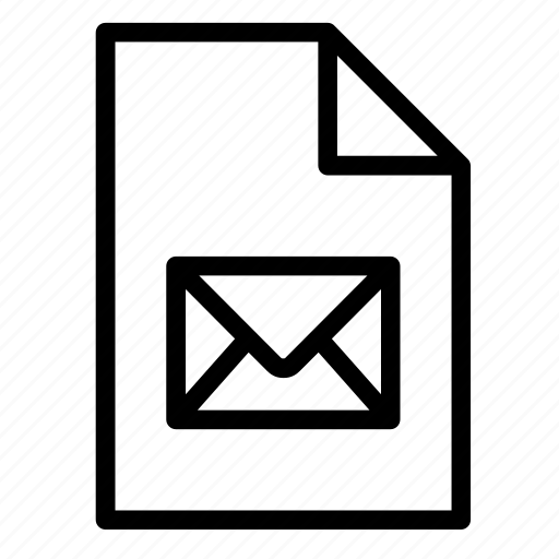document, email, eml, envelope, file, format, mail icon