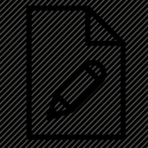 design, document, edit, file, format, pencil icon