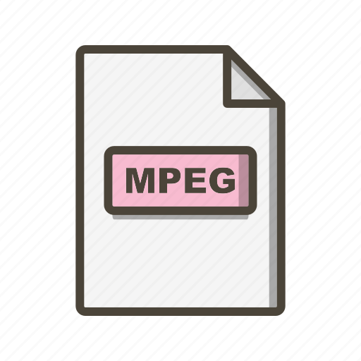 file extension, file format, mpeg icon