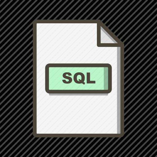 file, file extension, format, sql icon