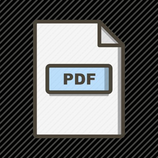 Pdf, file, format icon - Download on Iconfinder