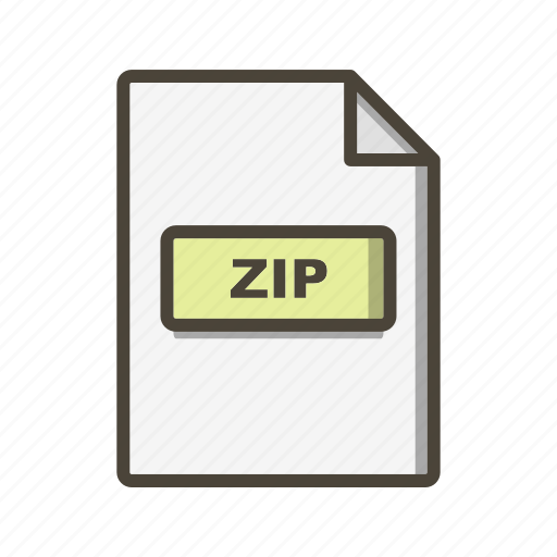 Zip, file, format icon - Download on Iconfinder