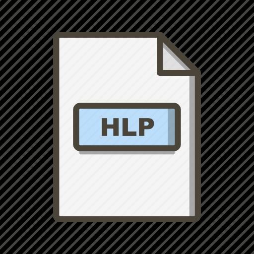Hlp, file, format icon - Download on Iconfinder