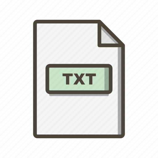 file, file extension, format, txt icon