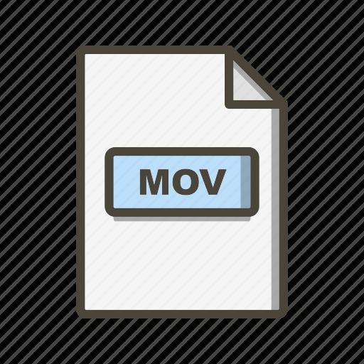 Mov, file, format icon - Download on Iconfinder