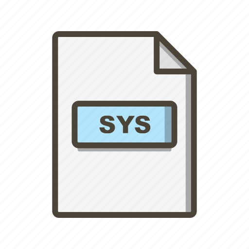 Sys, file, format icon - Download on Iconfinder