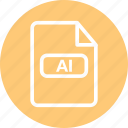 adobe illustrator, ai document, ai file, ai vector, vector document icon