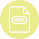 android format, apk, apk app, apk document, apk file, apk format icon