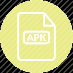 android format, apk, apk app, apk document, apk file, apk format icon