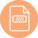 avi, avi document, avi file, avi format, avi movie, avi video icon