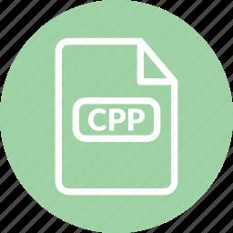 c plus plus, c++, cpp, cpp document, cpp file, cpp format icon