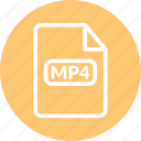 mp4, mp4 file, mp4 format, mp4 video icon