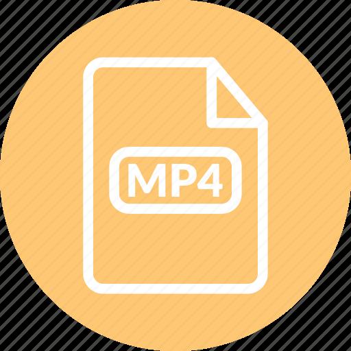 mp4, mp4 file, mp4 format, mp4 video icon